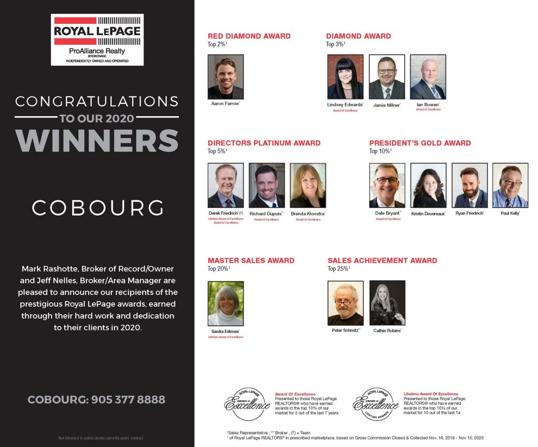 Cobourg Award Winners