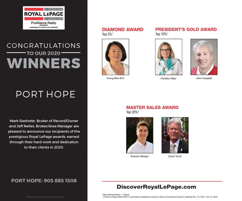 Port Hope Award Winners