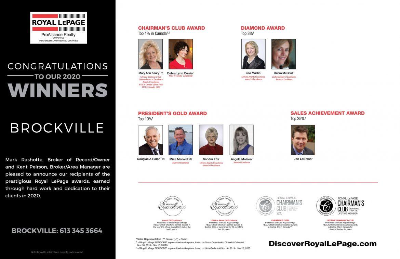Brockville Award Winners