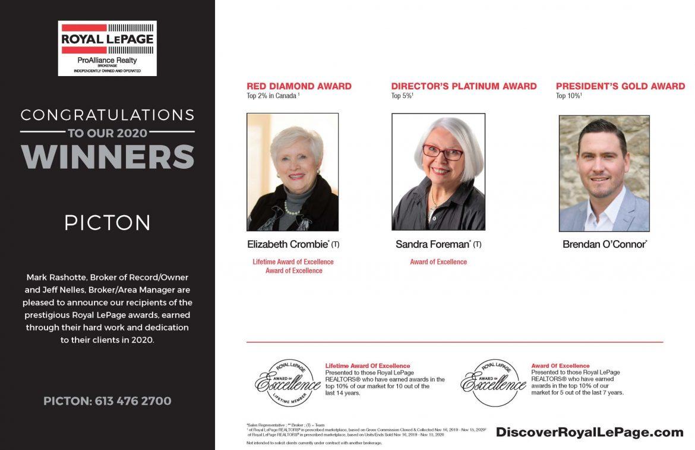 Picton Award Winners