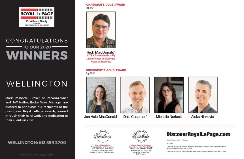 Wellington Award Winners