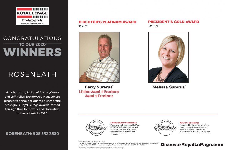 Roseneath Award Winners